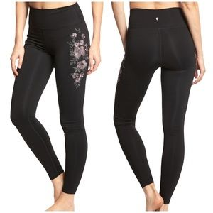 Spiritual Gangster | Floral Embroidered Leggings